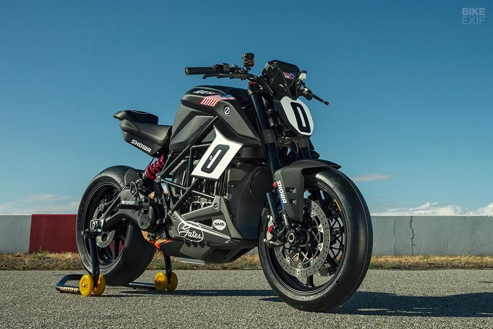 Гоночный электроцикл Zero SR/F для Пайкс Пик 2019