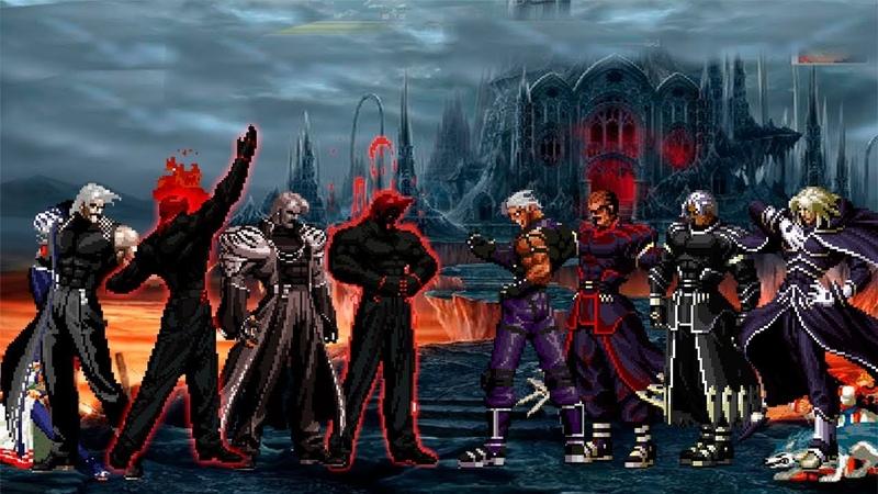 Kof Mugen The Burning Legion Team VS Super N.E.S.T.S Boss Team