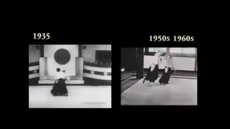 O Sensei morihei ueshiba aikido 1935 VS 1950