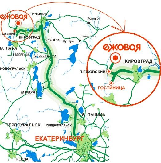 Схема проезда на производственный участок из Екатеринбурга.  About us.  Location.