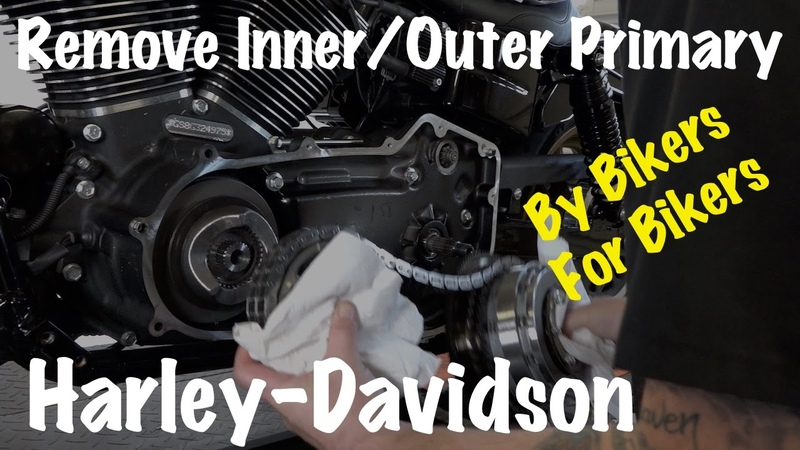 Harley Inner Outer Primary Housing, Clutch, Compensator Sprocket, Chain Removal-DIY