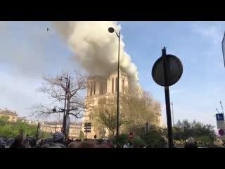 Notre dame burning in paris. parisfire