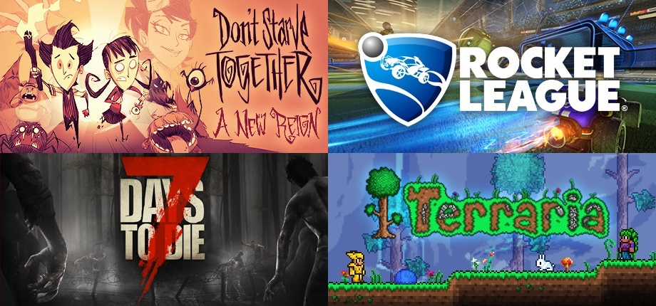Rocket League + 7 Days to Die + Don′t Starve Together + Terraria (new account)