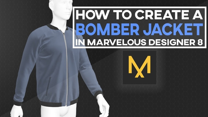 Marvelous Designer 8 - How To Create A Bomber Jacket