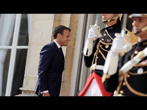 Watch   Macron attends Bastille Day parade in Paris