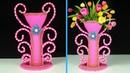 Best Out of Waste Big Size Flower Vase Make at Home Easy Flower Pot for Home Decoration
