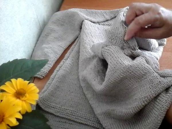 125. Готовая работа : Женский джемпер Пепельный.