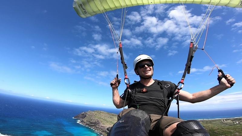 Scary launch but it is the best Speedflying spot in Hawaii