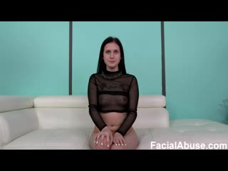 Facial abuse / face fucking amateur slut is pissed on, anally smashed & throat fucked