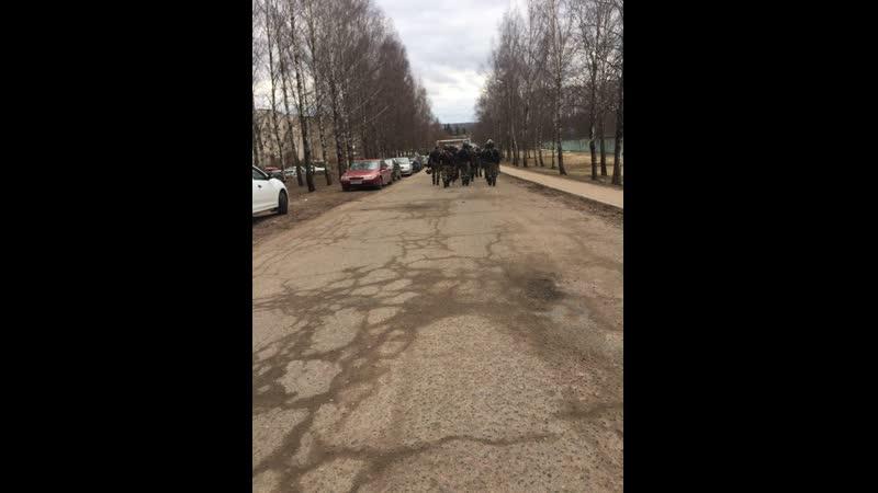 Сегодня в посёлке Витьба тренировались разгонять протесты