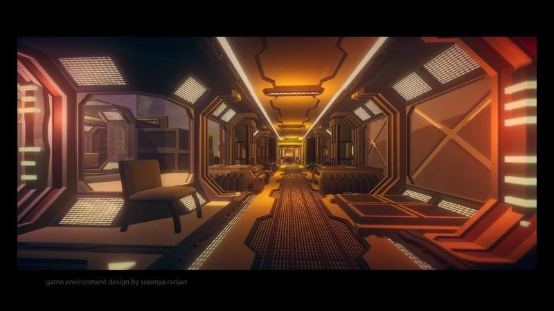 Sci fi corridor speed level design unity3d 5