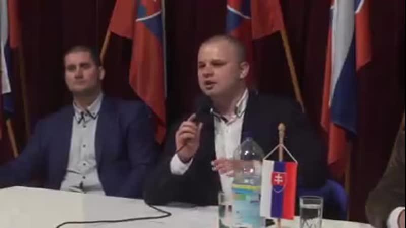Poslanec Milan Mazurek LSNS o EU bez servitky - maj 2019 (1)