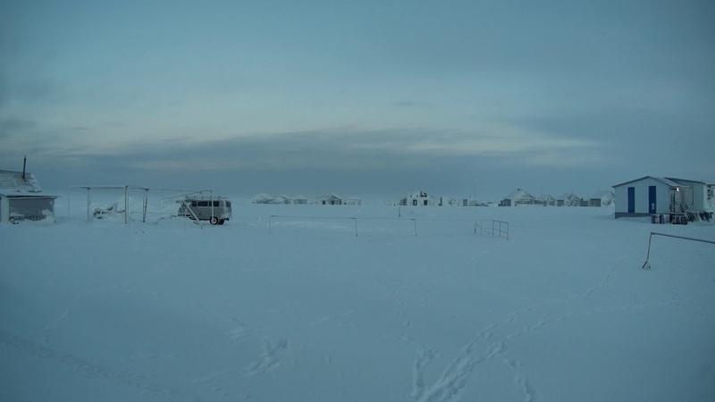 Остров Варандей Полярная ночь наглядно на ускоренном видео 25 полярных дней за 2 минуты