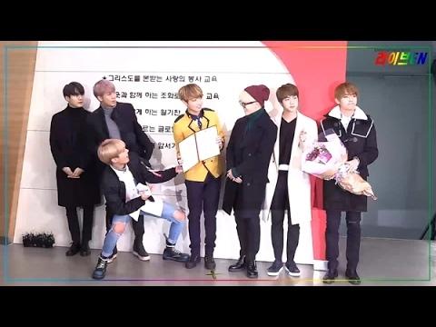 [liveen TV] 방탄소년단, 멤버 정국 졸업식 깜짝 방문한 의리소년단 (서공예졸5062