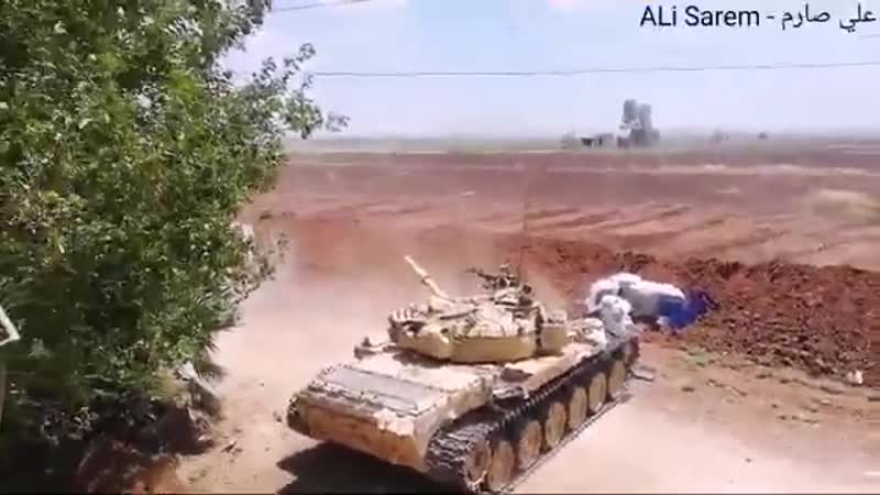 SYRIAN REPUBLICAN GUARD BATTLE-TANK FOOTAGE FROM HAMAMIYAT-JIBREEN AXIS NORTHERN RURAL HAMA