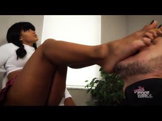 Bratty foot girls - enchantress sahrye - teaching the pervy teacher a lesson femdom enchantress sahrye