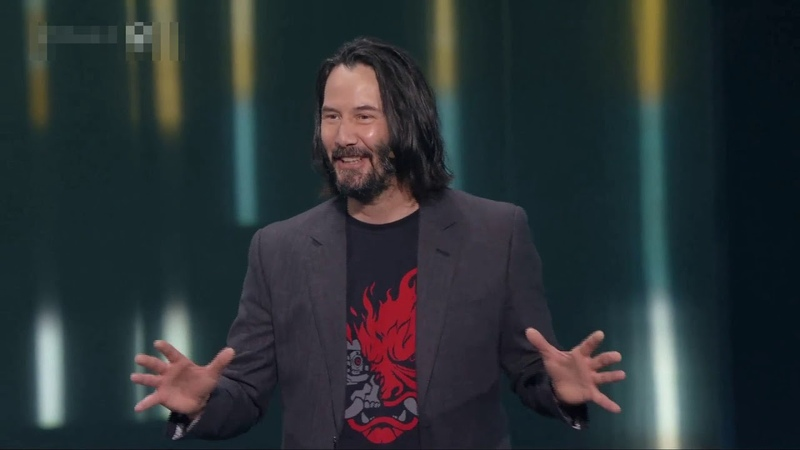 Cyber Punk 2077 Keanu Reeves reaction to someone Shouting You're Breath Taking Clip