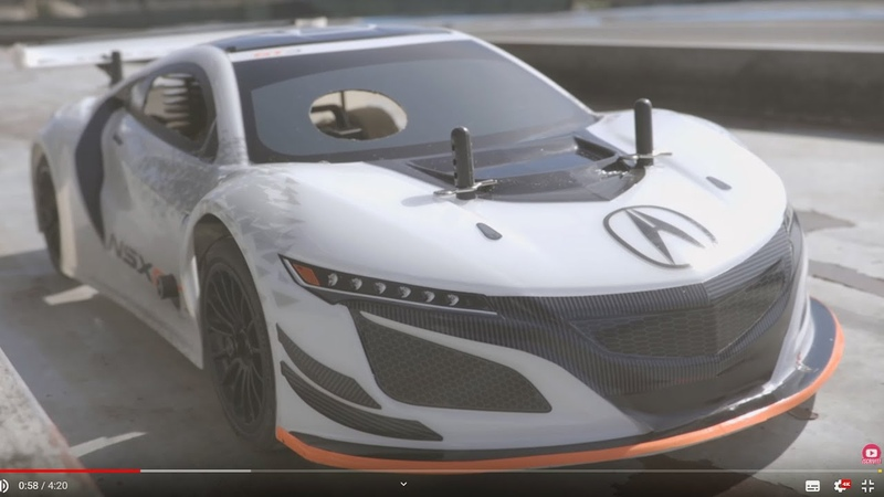 Kyosho FW-06 Acura NSX GT3 1:10 on road Nitro RC - Test on the track