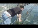 Сотни перепуганых туристов качались на стеклянном мосту в Китае. Glass Bridge in China