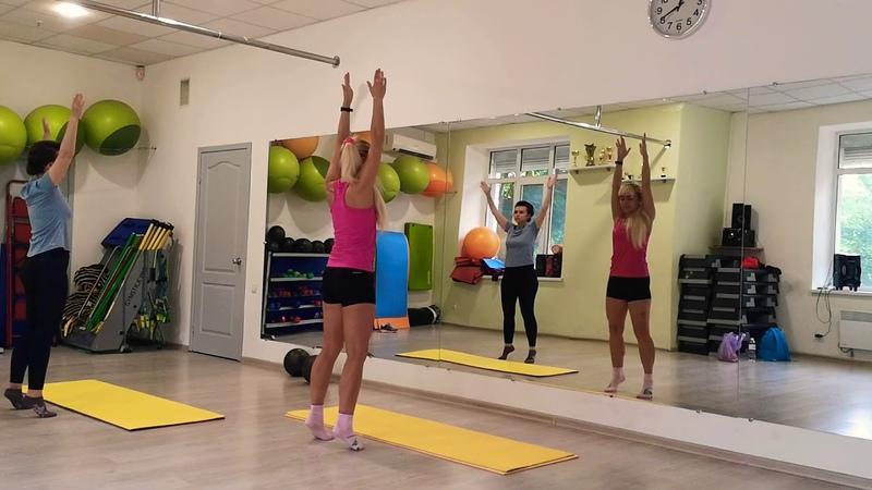 Stretching and balance на вытяжение позвоночника,развитие координации,тонус всего тела.