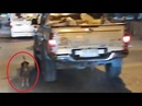 Heartbreaking moment abandoned dog chases owners' car after they drove off without him in Thailand