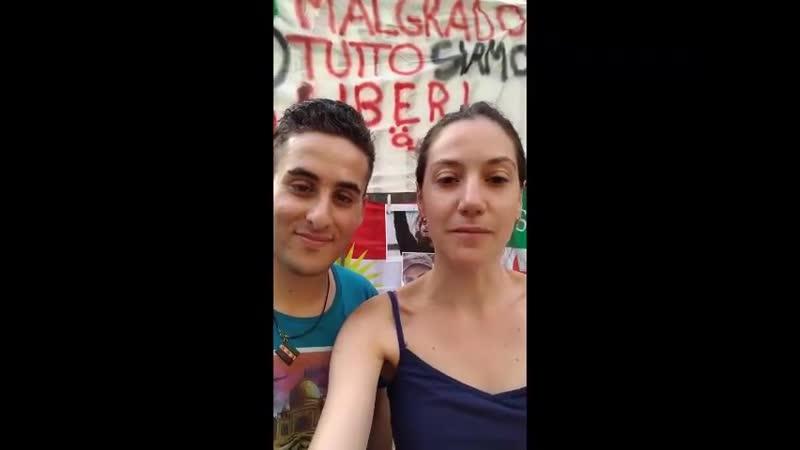 Приветствие от Амира Хакима аль Амери и Марии Батисты из Неаполя в интернациональный день солидарности с жителями Идлиба