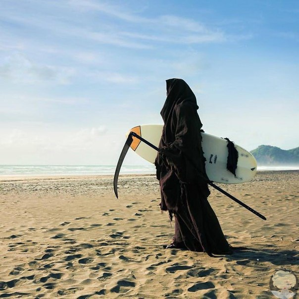 Смерть с косой в качестве спасателя : проект «The Swim Reaper»
