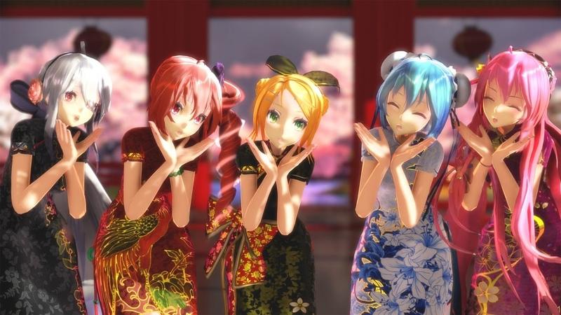 【MMD】TDA式旗袍五人的「隨心所欲Mercy」