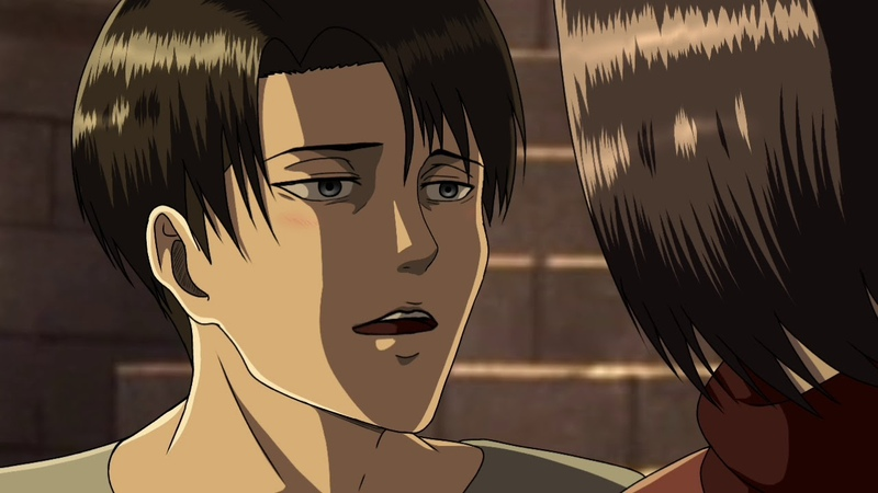 The secret moment of them Animation 2 LEVI X MIKASA RIVAMIKA : The secret he had for her