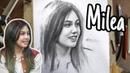 Sketsa wajah MILEA Vanesha Prescilla Dilan 1991
