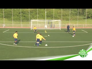 Attacking soccer _ sprint and pass soccer drill