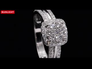 Золотое кольцо с 67 бриллиантами