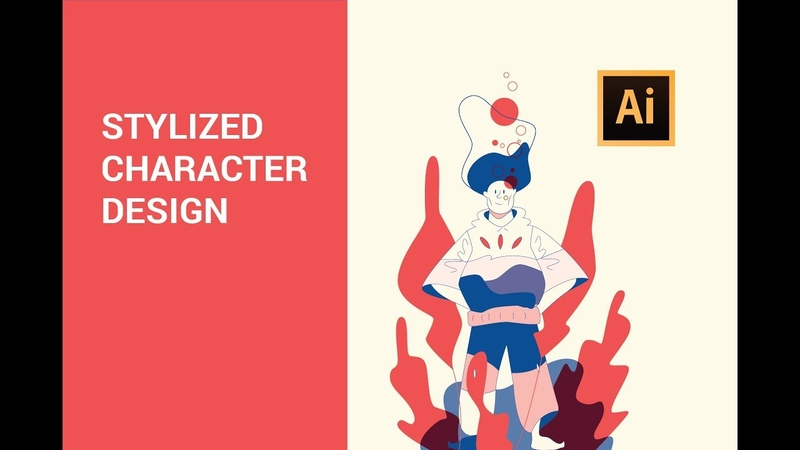 Adobe Illustrator tutorial - Character design (2019)