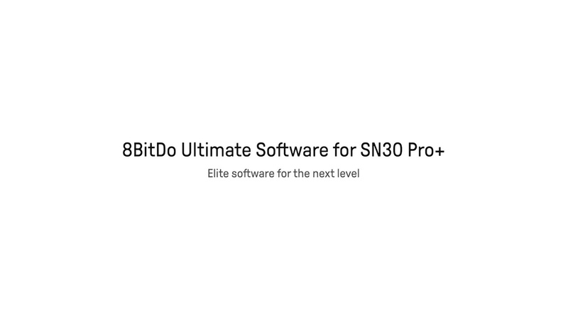 8BitDo Ultimate Software for SN30 Pro elite level control for pro gaming