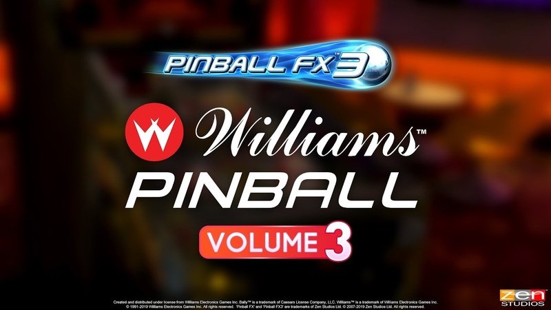 Williams Pinball Vol. 3 for Pinball FX3 – Theatre of Magic! The Champion Pub! Safe Cracker!