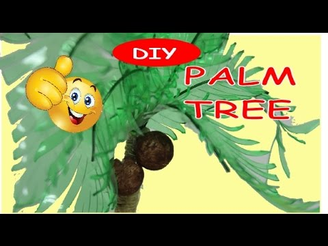 How to Make a Plastic Bottle Palm Tree | Art and Craft Ideas