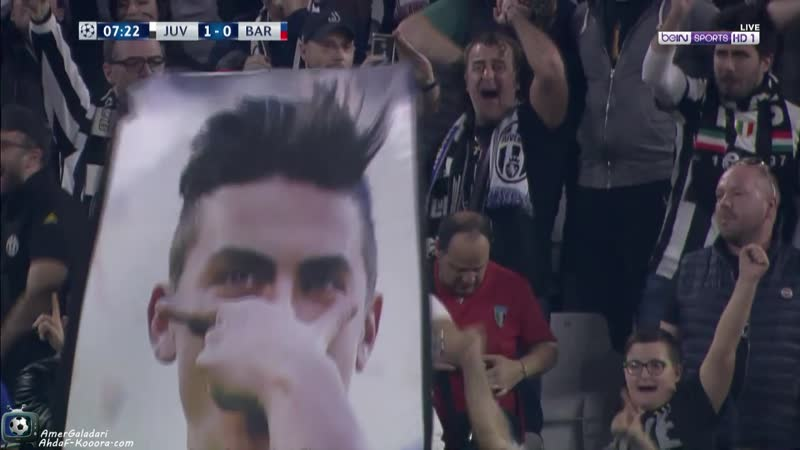 Juventus 1-0 Barcelona UEFA Champions League 2017-18. Dybala