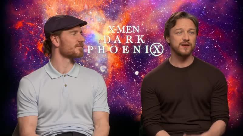 Michael Fassbender James McAvoy Raw Interview Dark Phoenix