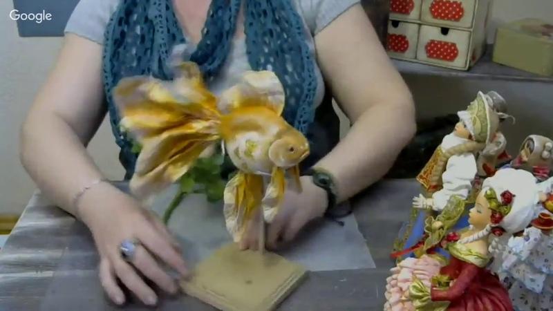 Елена Васько Ватная игрушка Золотая рыбка 13 04 18