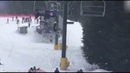 Quick-thinking teenagers save young boy as he falls from a ski lift