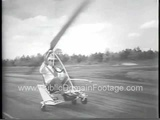 Gyro Glider Mini Helicopter Invention Newsreel Footage PublicDomainFootage.com