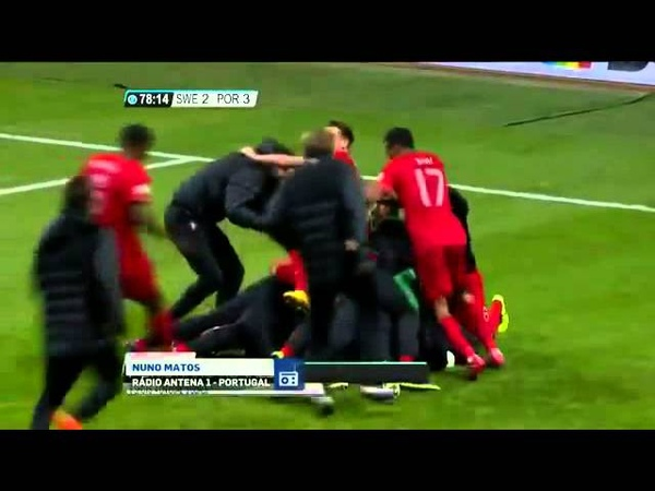 NUNO MATOS ''Full Narration'' Sweden 2 - 3 Portugal