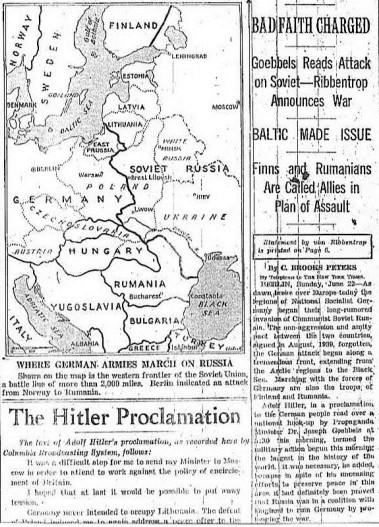 КАК В ГЕРМАНИИ УЗНАЛИ О ВОЙНЕ С СОВЕТСКИМ СОЮЗОМ Многие считают, что немцы узнали о войне с СССР 22 июня 1941 года. И в какой-то мере окажутся правы. Утром в 4.00 часа, по берлинскому времени,