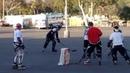 Rose Bowl Hockey 2015 - Pasadena, CA - California Pond Hockey... on asphalt