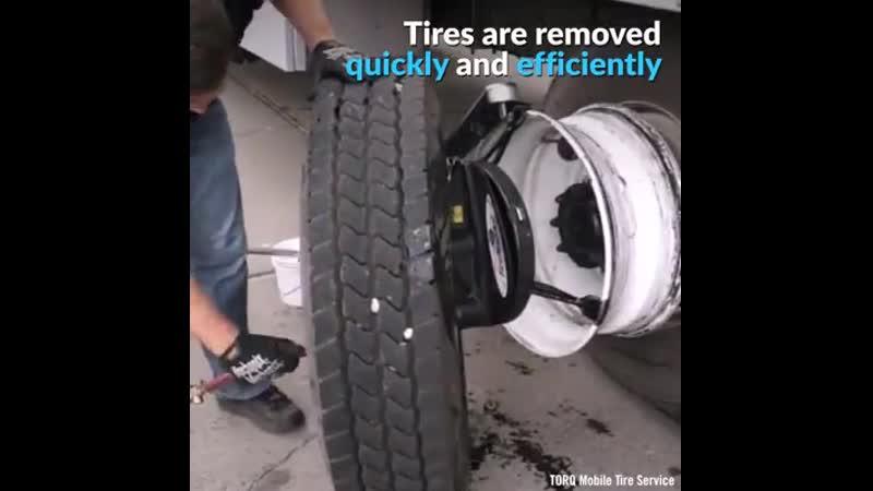 Замена шин без снятия колёс..mp4