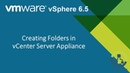 06 Creating Folders in vCenter Server Appliance Step by Step guide