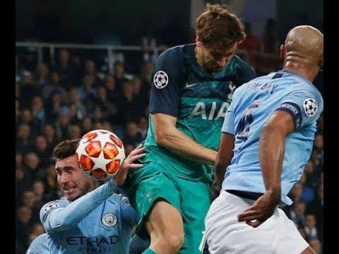 Manchester City vs Tottenham ● LLORENTE hand ● 17/04/2019