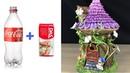 DIY Flowering vine Fairy House Lamp Using Plastic Bottles and Das clay