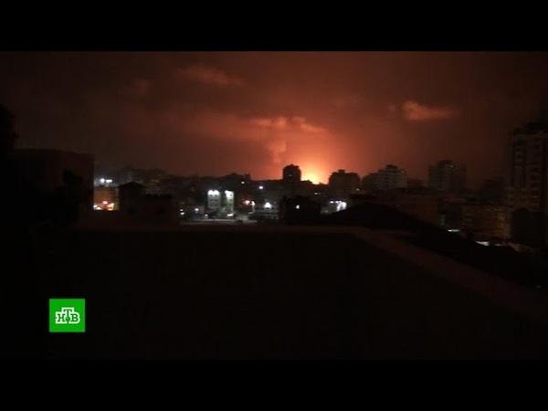 Израиль наносит удары по сектору Газа в ответ на обстрел Тель Авива