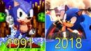 Evolution of Sonic the Hedgehog Games 1991-2018